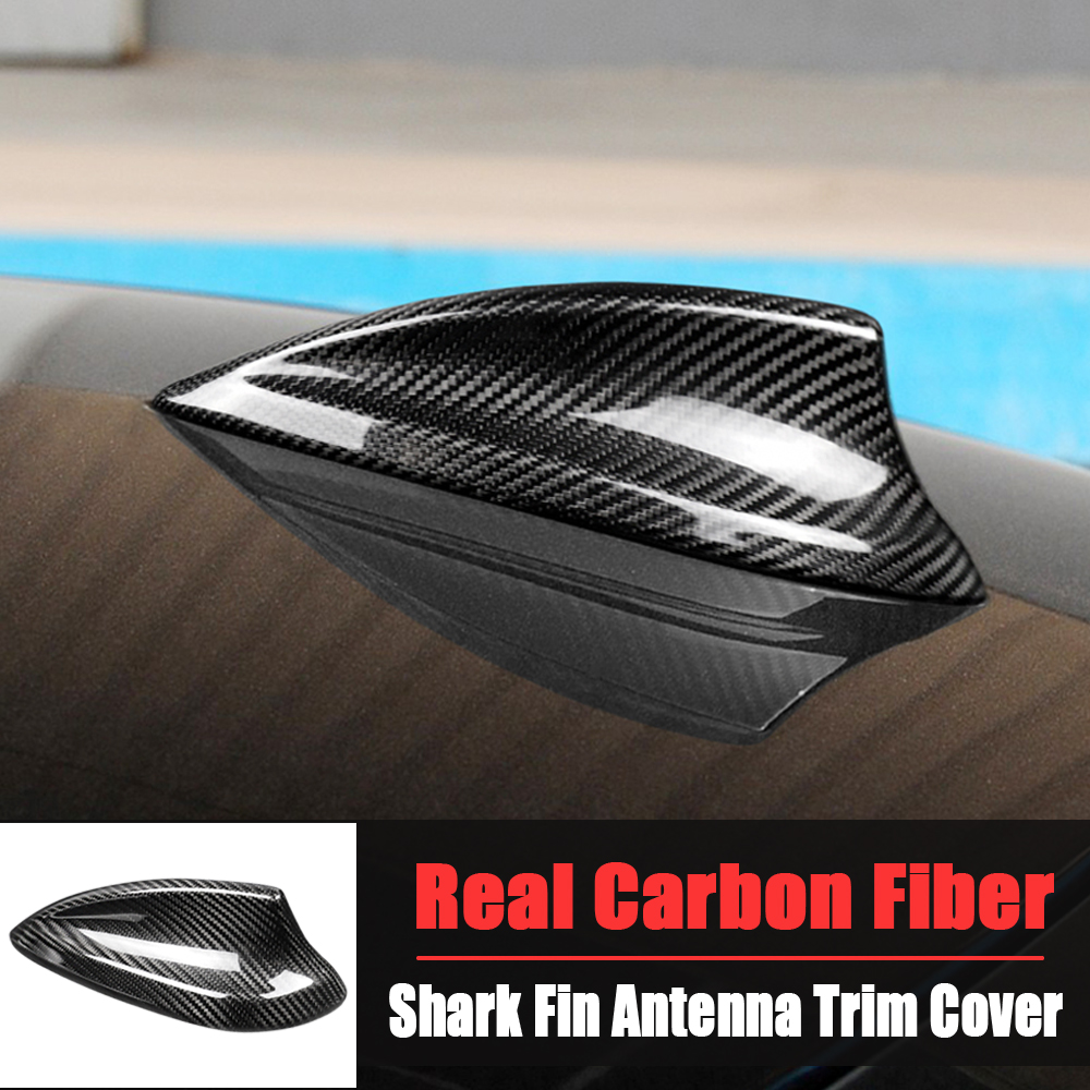 Car Shark Fin Antenna Cover Sticker Real <font><b>Carbon</b></font> <font><b>Fiber</b></font> For <font><b>BMW</b></font> <font><b>E90</b></font> E92 F20 F22 F23 F30 F34 F32 F33 F36 G30 G20 X4 X5 X6 image