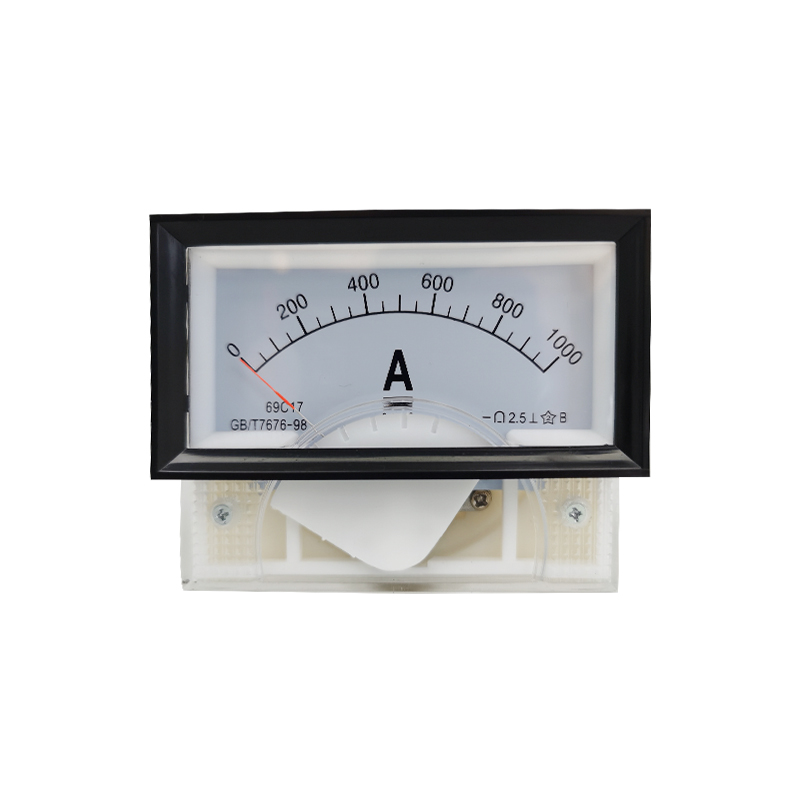 1PC 69C17-A 50A 100A 500A 1000A/75mV DC Analog Meter Panel AMP Gauge DC Ammeter Use with Shunt Current Meter 85*46MM Amperimetro