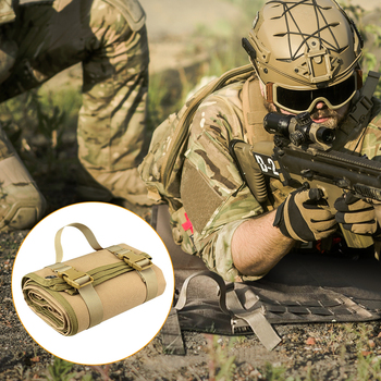 цена на Tactical Shooting Mat Waterproof Lightweight Roll-Up Nylon Cloth Outdoor Hunting Molle Non-padded Mat for Rifle Gun Shotgun