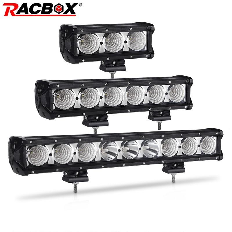 20inch CREE LED Light Bar 90W Single Row Spot Beam IP68 Waterproof Fog Lamp