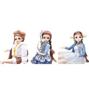Модная мультяшная кукла для девочек, 17,72 дюйма, 26 шарниров, кукла с полным набором одежды