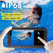 waterproof case armor Metal Aluminum 360 full Protect for Samsung S8 Plus Shockproof Case For Galaxy Cover
