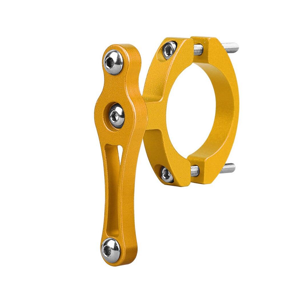 Практичный с прокладкой из алюминиевого сплава легко установить аксессуары замена вращающийся велосипедный держатель клетка держатель бутылки адаптер - Цвет: Gold