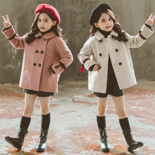 Girls Winter Coat Fashion Wool Children Jackets For Girls Teens Autumn Clothes Warm Cotton Long Kids Outerwear 4 6 8 10 12 Years winter long jacket for girls 5 10 11 years fashion cotton parka kids european girls clothing beautiful autumn warm coat children