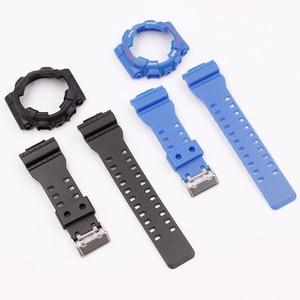 Image 5 - 時計アクセサリーカシオ樹脂ストラップG SHOCK ga gls gd 110 100 120ピンバックル16ミリメートル男性のと女性のゴムスポーツ腕時計ケース