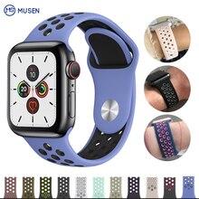 Купить с кэшбэком sport Silicone band strap for apple watch nike 42mm 44mm 38mm 40mm bracelet watch watchband For iwatch apple Series 5