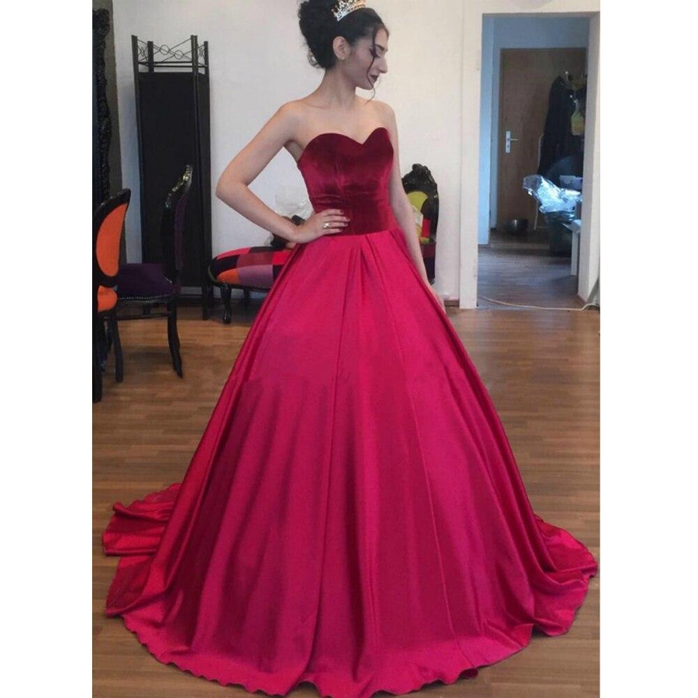 Sweetheart Quinceanera Dress Velvet Prom Ball Gown Evening Dresses Floor Length Sweet 16 Prom Dresses Custom Made