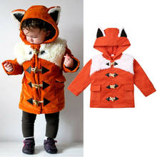 Toddler Kids Baby Boy Girl Clothes 3D Fox Hoodie Coat Jacket Outwear Snowsuit 1-6Years(China)