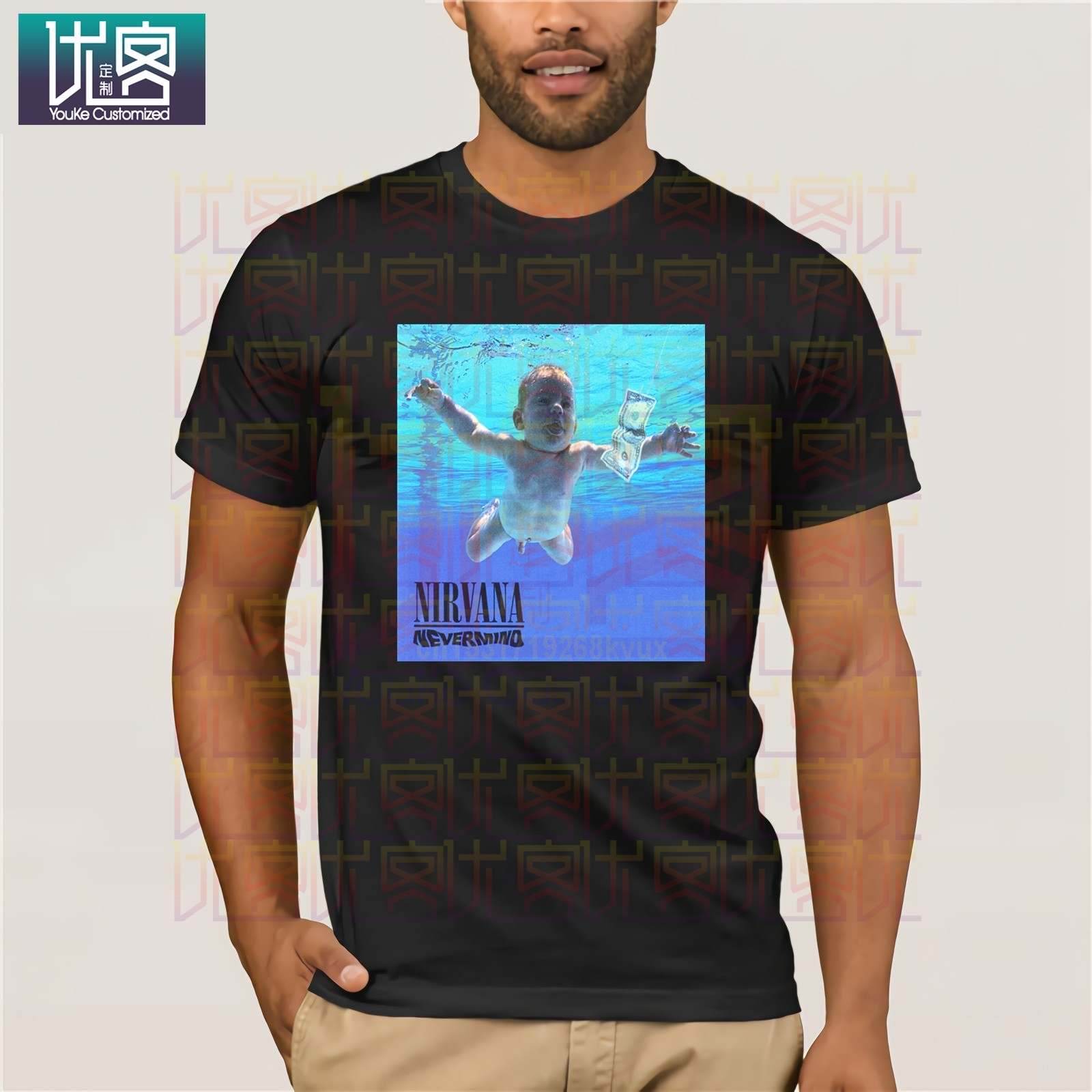 Nirvana Nevermind Album Vintage T-Shirt S Indie Rock Grunge 90s Vtg Retro Punk Clothes Popular T-Shirt Crewneck 100% Cotton Tees image