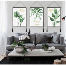 Room Posters Tropical Plant Plantain Leaves Canvas Painting Print Palm Tree Leaf Wall Art Nordic Wall Mural for Home decoration
