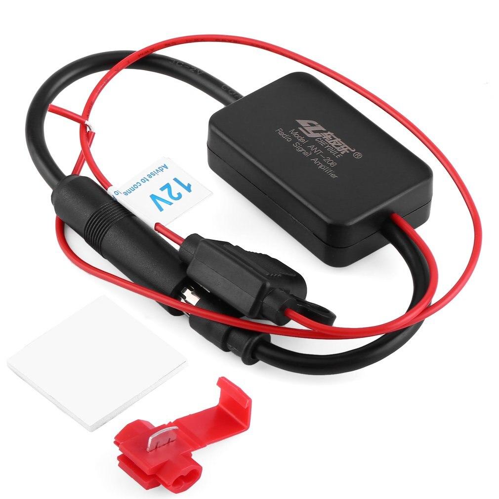 Amplificateur de Signal Radio Automobile 12V ANT-208 véhicules automobiles amplificateur aérien FM pour améliorer les signaux noir chaud