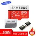 SAMSUNG EVO cartão Micro SD 128 GB GB 64 32GB 256GB 512GB Cartão Micro SD Cartão de Memória 32 64 128 GB Cartão de Memória Flash SD/TF MicroSD U1 U3 para o Telefone