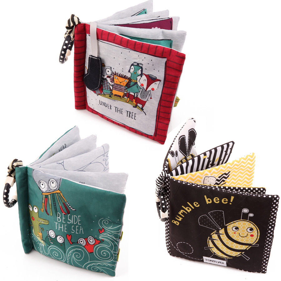 3 Pieces/setNew Tail  Baby Cloth Book Baby Three-dimensional Cloth Book