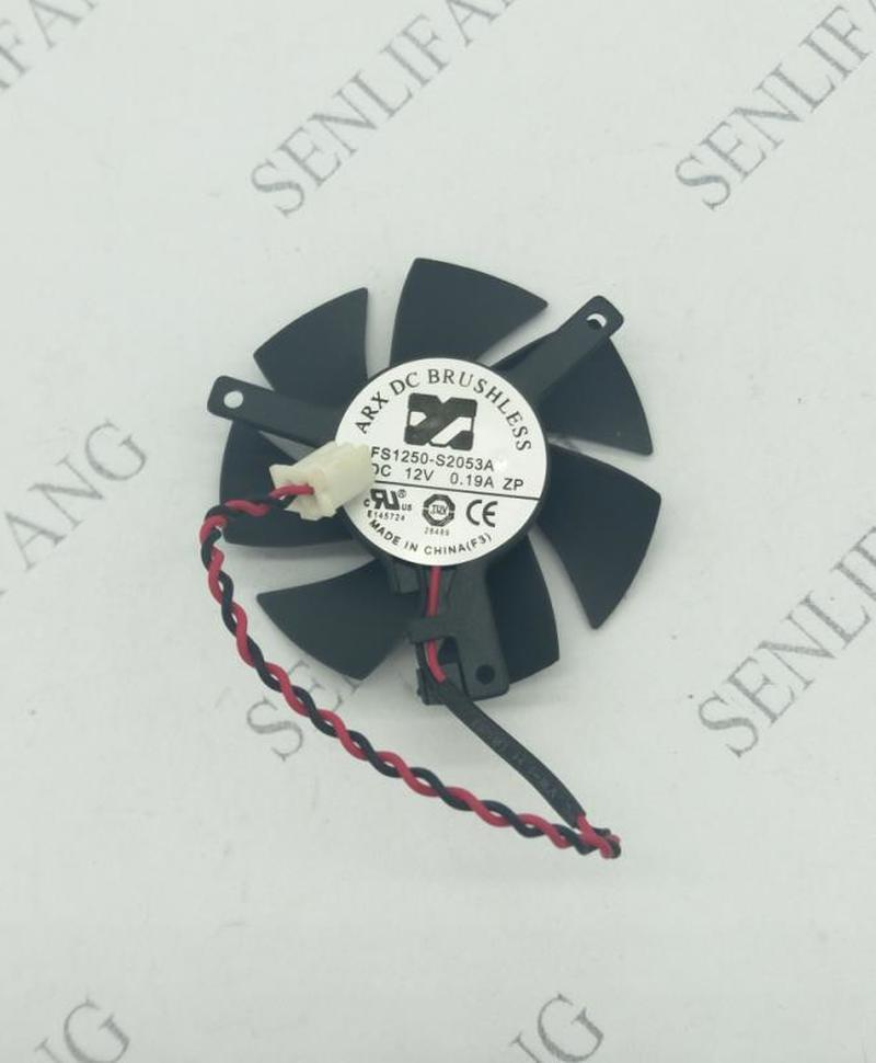 FOR Original Gigabyte FS1250-S2053A 12V 0.19A 3-wire Graphics Card Fan With 4.5cm Diameter