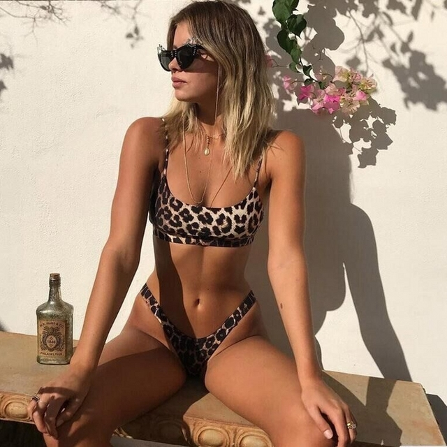 Sexy Lady Snakeskin Bikini Women Swimwear Leopard Bikinis Sexy Biquini Swim Suit Push Up Swimsuit Female Beachwear Swimming Fashion & Designs Women's Clothing & Accessories Women's Fashion