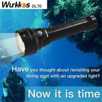 Luz superbrillante para buceo, linterna con 4 modos, 13000lm, 4 x XHP50B, 26650