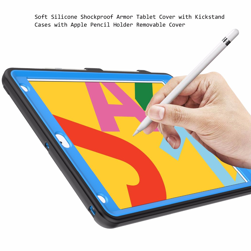 Pattern iPad Tire with Hard Generation 10.2 For Holder 2020 Pencil Shockproof 8th Case