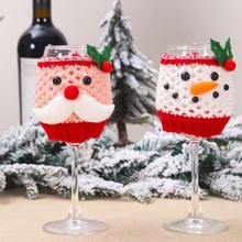 Santa Claus Wine Bottle Cover Christmas Decorations for Home New Year Xmas Decor Red Cup Glass Covers Navidad 2019
