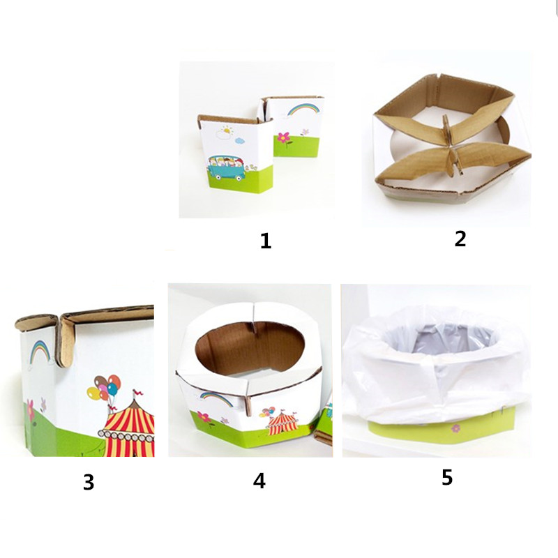 Kids Small Portable Travel Folding Potty Seat For Baby Toilet Training - Children Pot Urinal DIY Paper Toilet | Happy Baby Mama