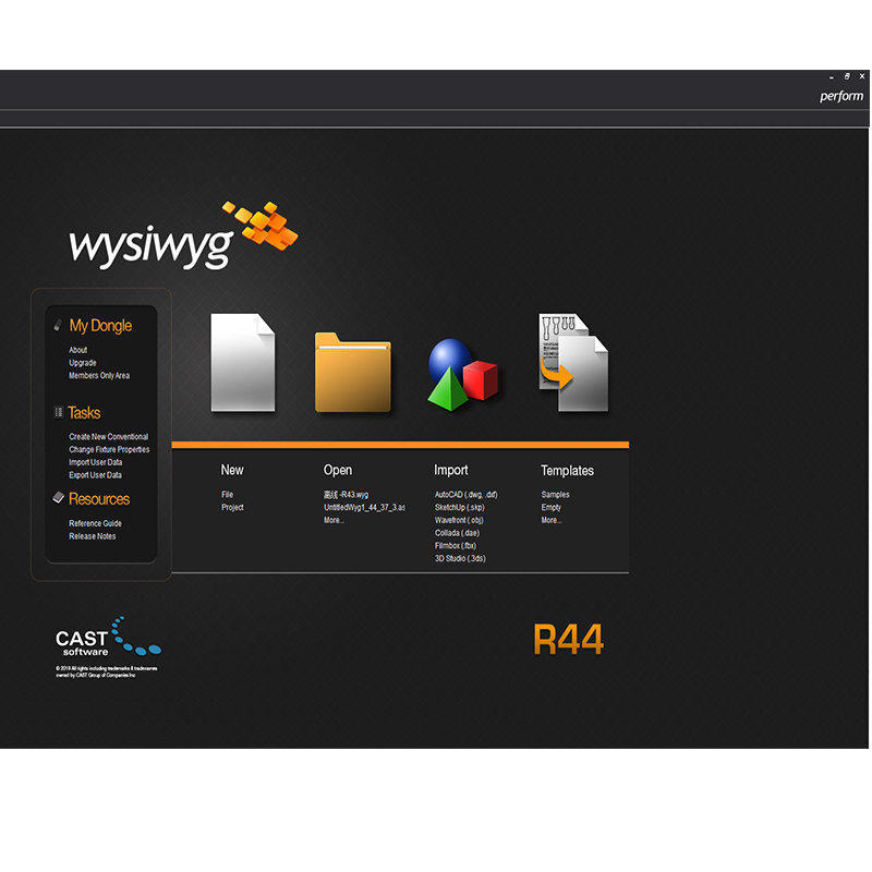 Professional Stage Software WYSIWYG Release 44 R44 Perform Dmx Controller Dj Stage Light R44 Dongle