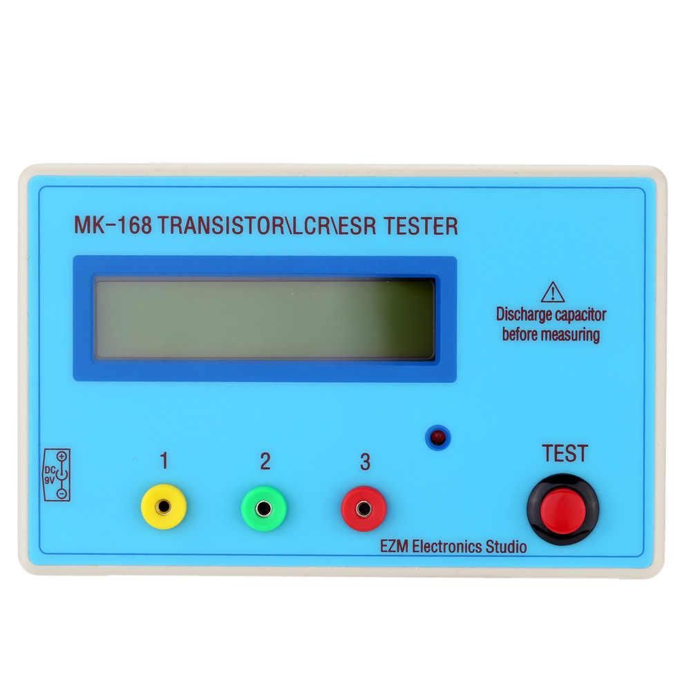 Lasamot Portable MK168 LCD Backlight Transistor Tester Diode Inductance Capacitance Resistance ESR Meter MOS//PNP//NPN L//C//R Testing