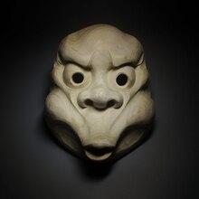 Fire Man Warrior Buddha Statue Camphorwood Face Japanese Wood Carving Mask Wall Decoration Craft The Buddha Decoration Tattoo