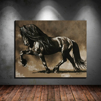 New arrivals animals horse Oil Painting on Canvas Posters and Prints Cuadros Wall Art Pictures For Living Room image