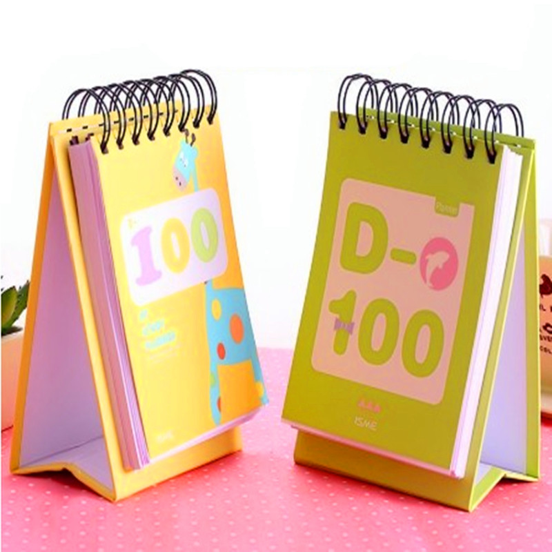 South Korea Stationery One Hundred Days Planer Cute Cartoon Animals Creative Coil Diary Book