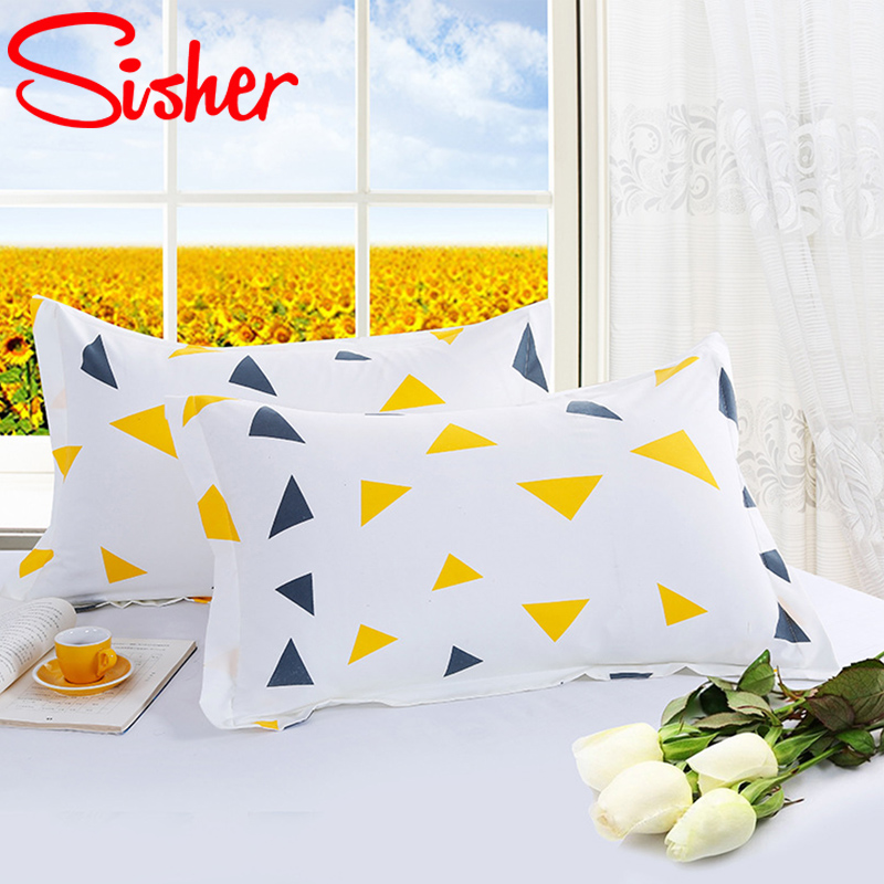 Modern Brief Pillowcase 48cm*74cm Geometric Beauty Floral Printed Pillowcover Polyester Kid Adult Pillow Case Cover For Bedroom image