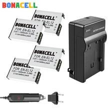 Bonacell 1.5Ah EN-EL12 EN EL12 For Nikon Battery +Charger for Nikon CoolPix S610 S610c S620 S630 S710 P300 P310 P330 S6200 S9400 replacement lg laptop batteries for p310 p300 lb6211be eac40530401 apb8c 11 1v 6 cell
