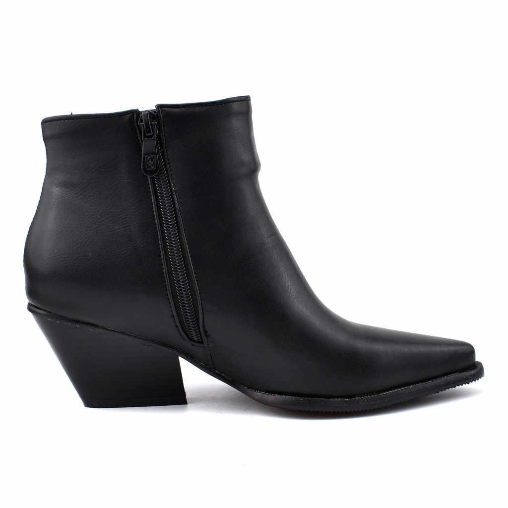 Phụ Nữ Mùa Đông Cao Gót Ống Giày Nữ Giày Tăng Kích Thước Lớn Giày Hiệp Sĩ Ủng Ngắn Boot Обувь Женская Botas mujer