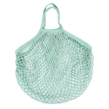 Mesh Net Bag String Fruit Storage reusable shop bags eco Foldable Portable Beach Bag Kid Basket Storage Bag Dropshipping 4