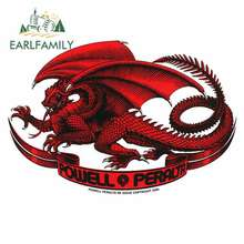 EARLFAMILY 13cm x Dragon Totem Car Stickers Vinyl JDM Waterproof Anime Sunscreen Bumper Trunk Truck Graphics 3D Fine Decal