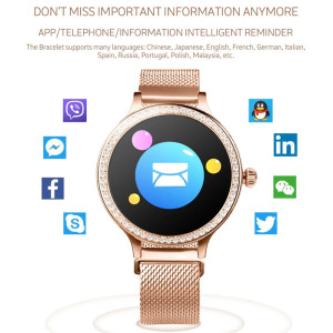 Image 4 - M8 Women Smart Watch IP68 Waterproof Lady Band Heart Rate Monitor Fitness Tracker Bracelet Smartwatch Android IOS