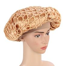 Double Tinted Hair Net Cap Elastic Knitted Wide Night Sleeping Cap Head Cover Fo