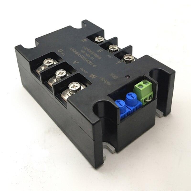 Controlador de módulo de arranque suave Motor de arranque suave disipador de calor de parada suave motor trifásico arranque lento 1kw 2kw 4kw 6kw 8kw 10kw