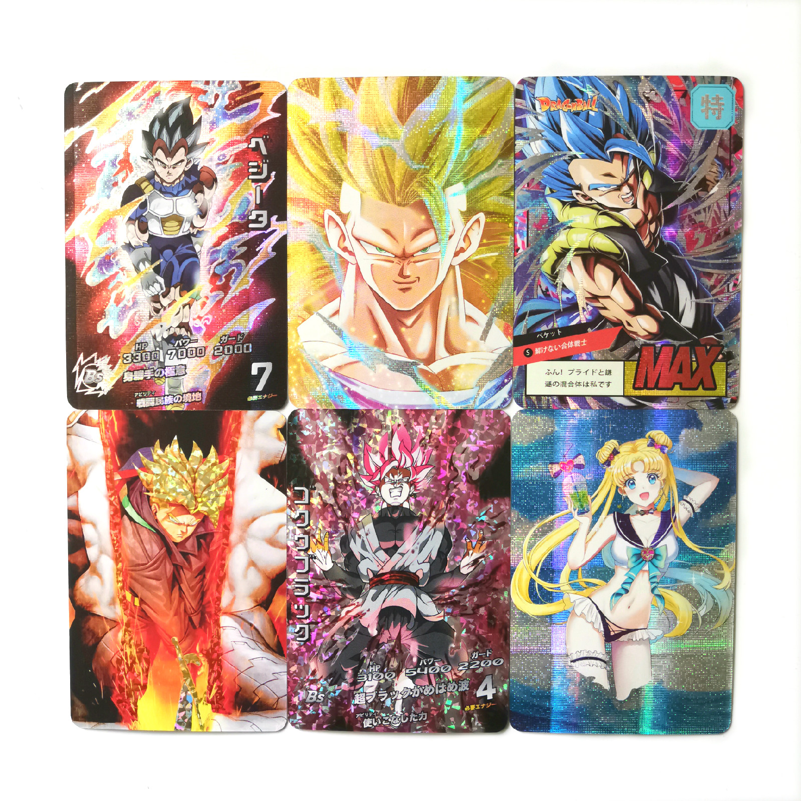 27 Styles Super Dragon Ball Z Sailor Moon Saint Seiya Heroes Battle Card Ultra Instinct Goku Vegeta Game Collection Cards