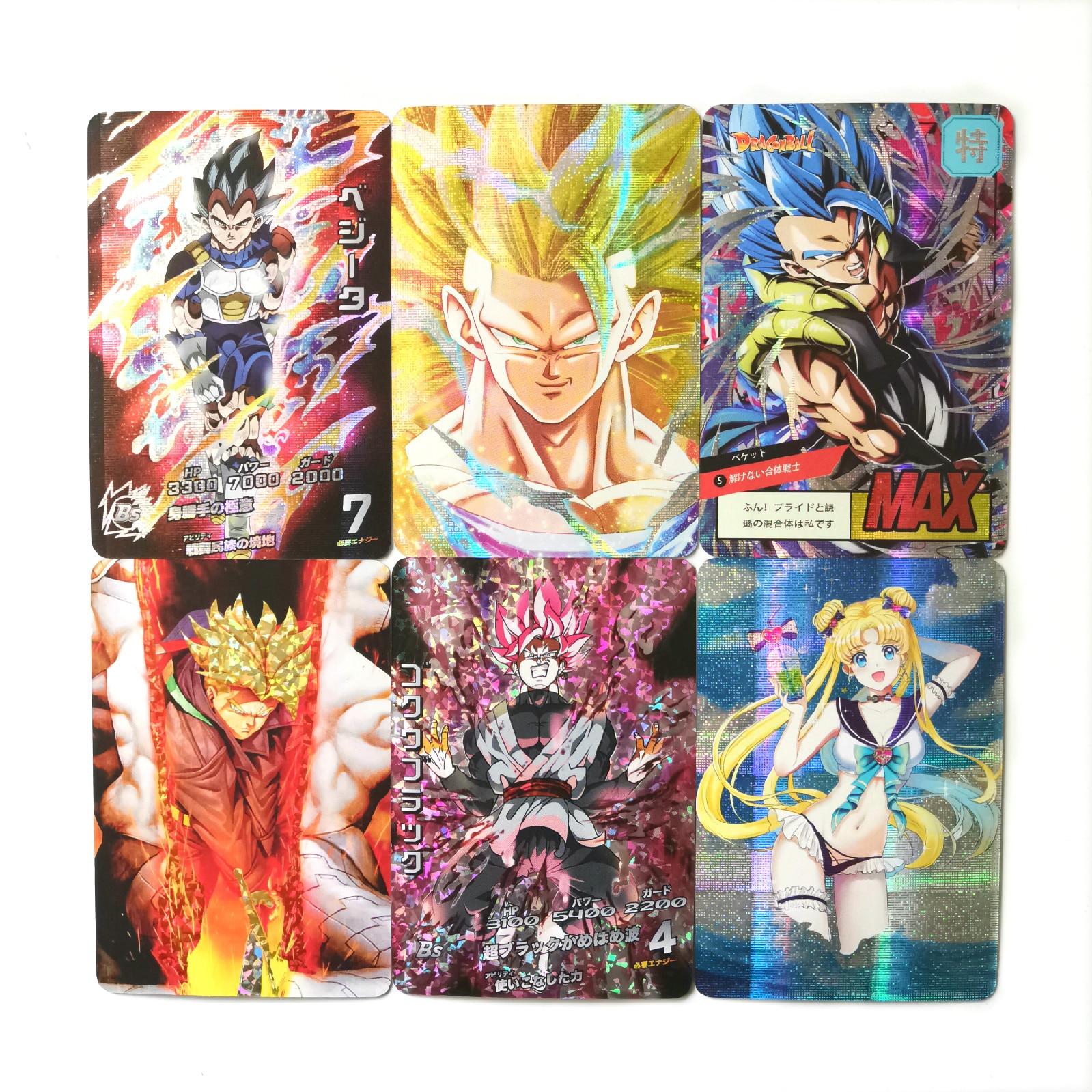 27 Styles Super Dragon Ball Z Sailor Moon Saint Seiya Heroes Battle Card Ultra Instinct Goku Vegeta Game Collection Cards