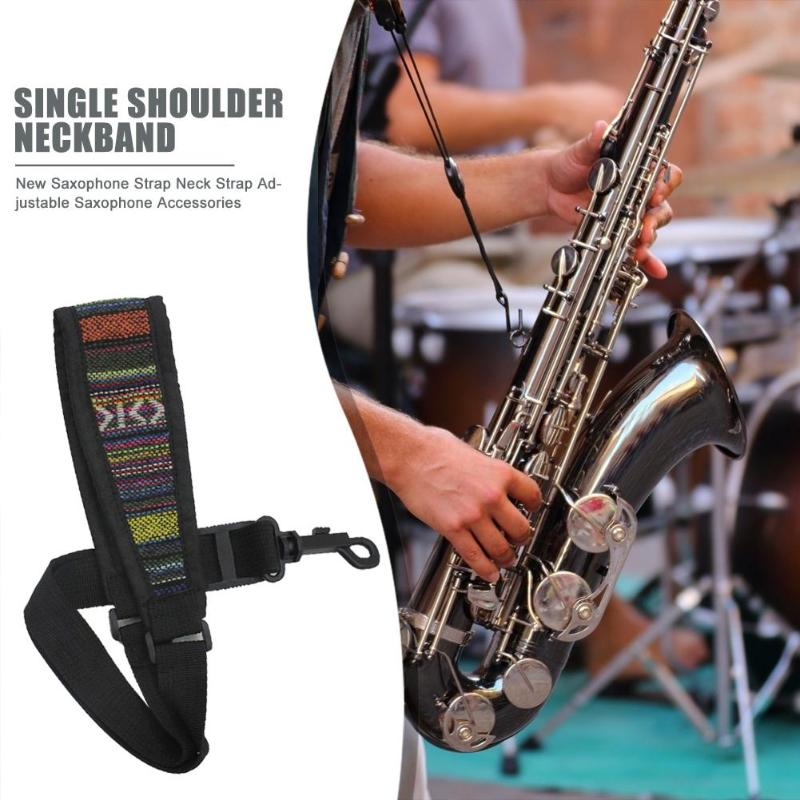 Hot Sale Saxophone Strap Skillful Manufacture Musical Tenor Soprano Saxophone Ethnic Neck Strap Adjustable Sax Shoulder Belts