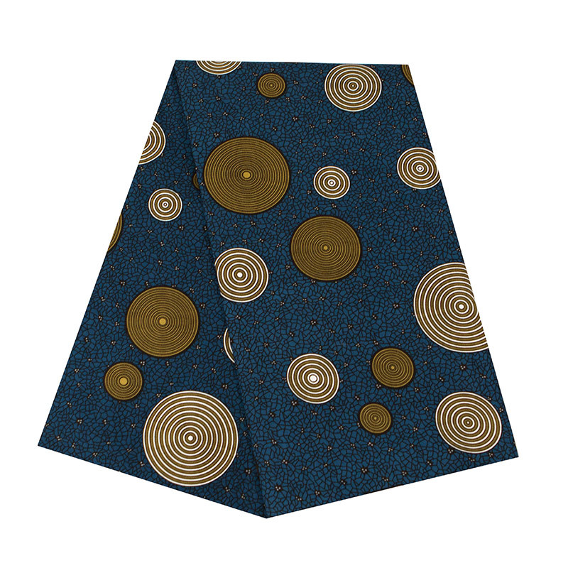Fashion Dots Prints African Ankara Wax Fabric African Wax Polyester Wax Fabric Breathable Pure Polyester Material Width 110cm