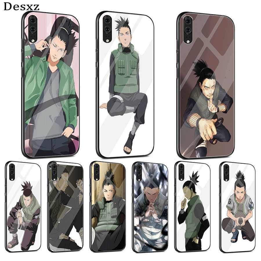 Etui na telefon komórkowy szkło dla Huawei P30 P20 P10 Mate 20 Pro Lite Y6 Y9 7A honor 8X9 10 P inteligentny Nara Shikamaru