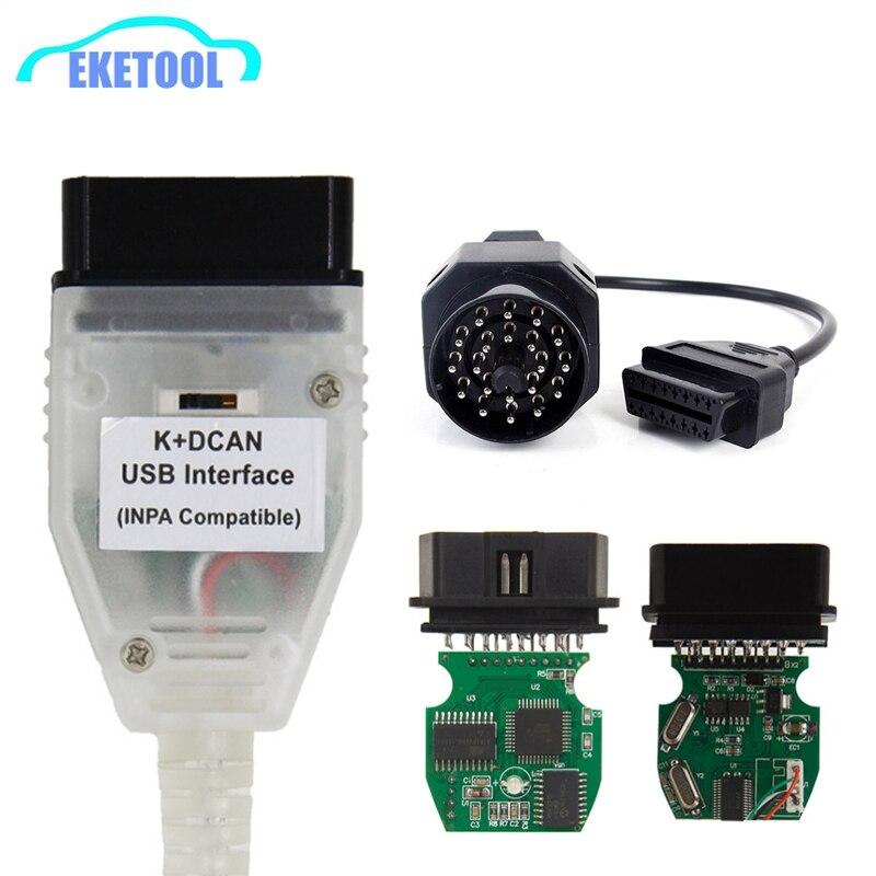 Лучшее качество полный чип для BMW INPA K DCAN + может FT232RL FT232RQ USB Диагностический Интерфейс совместим с INPA для BMW серий