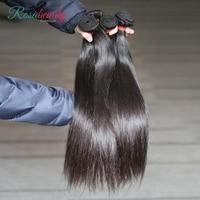 [Rosabeauty] OneCut Hair Wholesales Straight 8 28 30inch P Brazilian Remy Hair Natural Color 100% Human Hair Weaving Bundles
