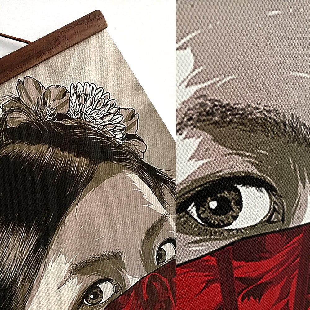 Tableau japonais guerrier Ukiyoe 4 Ukiyoe peinture sur toile avec cadre art mural de d coration