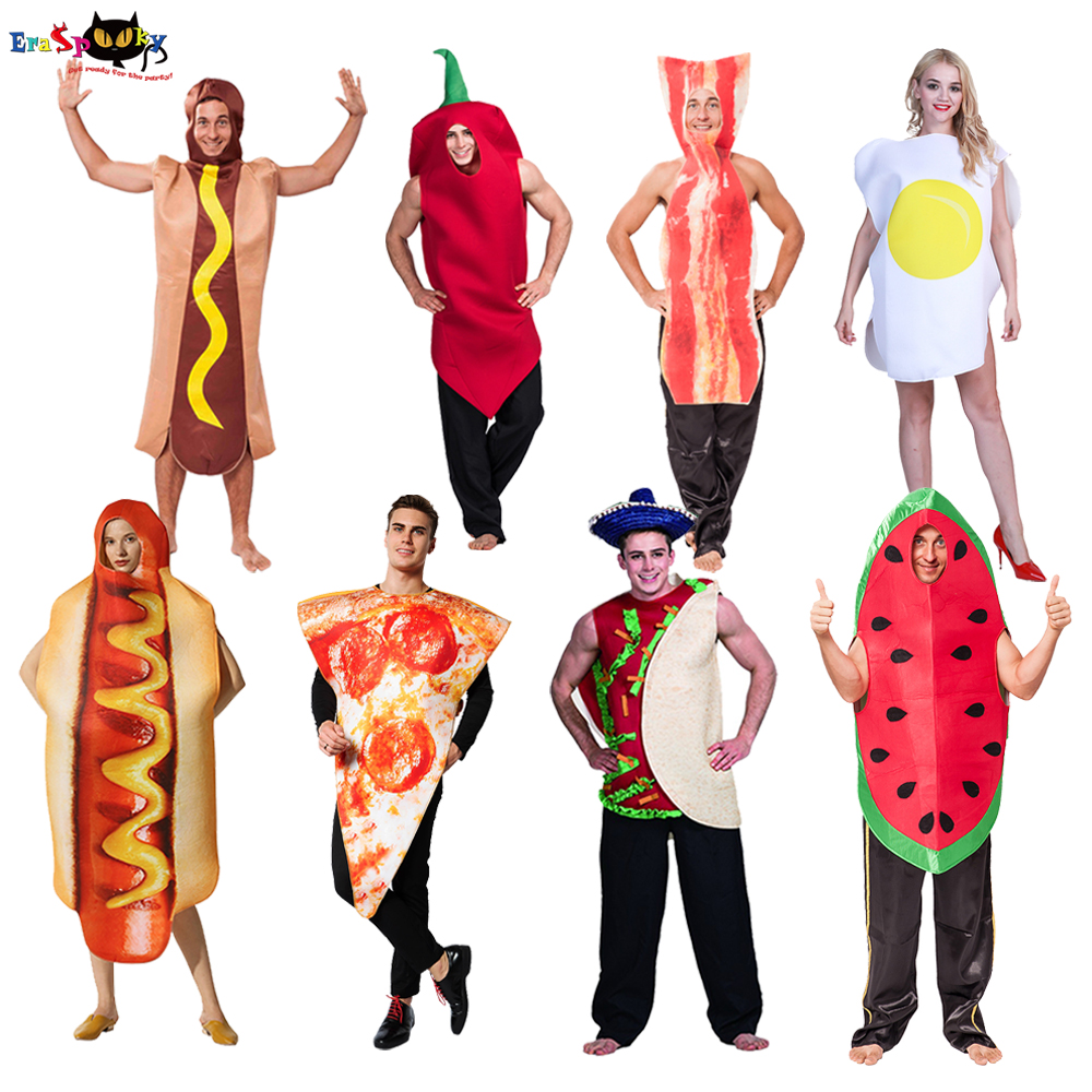Carnival Party Funny Food Cosplay Halloween Costume For Adult Christmas Family Fancy Dress Hot Dog Pizza Holiday Outfits Kids