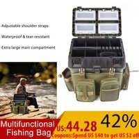Sac de pêche multifonctionnel 600D oxford tissu matériel de pêche boîte vitesse sac à dos matériel boîte de rangement sac à bandoulière pour étui