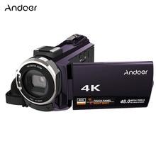 Andoer Video Camcorder 4K 1080P 48MP WiFi Digital Video Kamera Camcorder Recorder 3 zoll Touchscreen IR Infrarot Nacht anblick