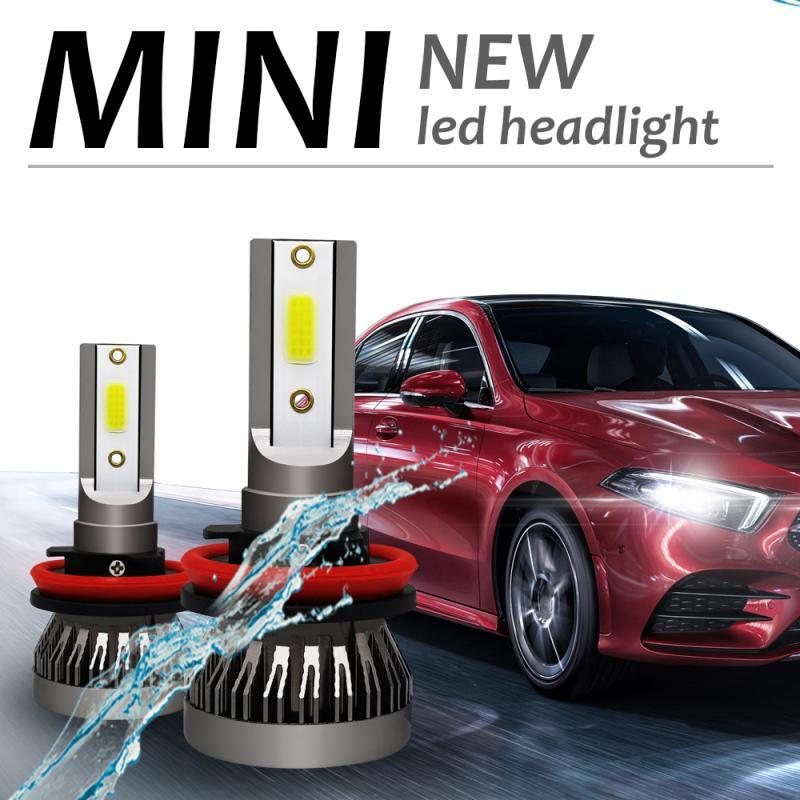2/1pc Mini 1 Car Headlight Kit Led H7 H4 Car Headlamp H11 9006 9005 9012 H1 Car Light Bulb 6000K 90W 12000LM Caraccessory