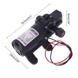 Image 5 - DC 12V 130PSI Micro Waterpomp High Pressure Diaphragm Self Priming Water Pump 70W 6L/Min For Farming Lawn Garden Tour Vehicles