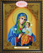 Icon Theotokos Vladinirskaya DIY 5D diamond embroidery Religion diamond mosaic painting pattern crystal glass home decoration
